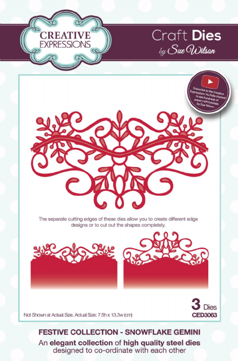 FESTIVE COLLECTION - Snowflake Gemini CED3063 by Sue Wilson